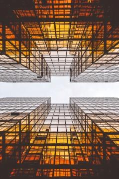 View between buildings - Vastgoed Business School